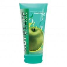 Загряващо масажно масло ябълка 177мл HOT STUFF WARMING OIL GREEN APPLE