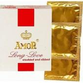 Забавящи и оребрени презервативи Amor Long love